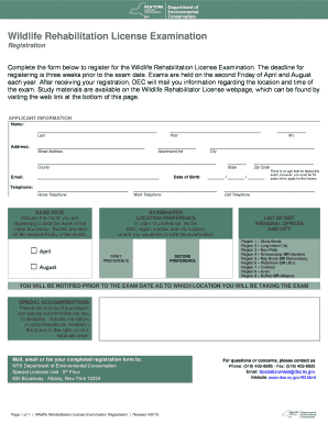 wildlife permit application form rehabilitation permit