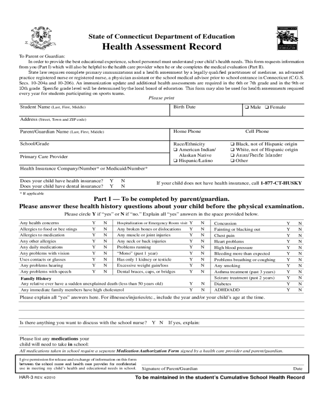 medical exemption certificate application form