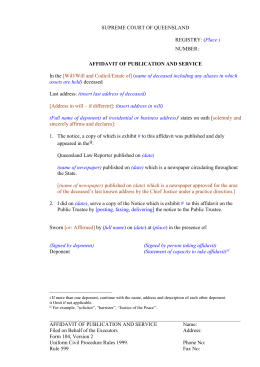 application for substituted service qld example