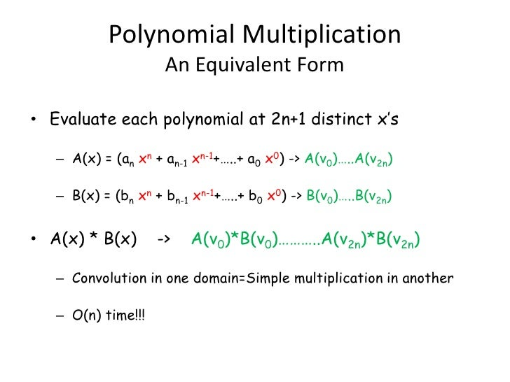 applications of solving polynomials over complex numbers