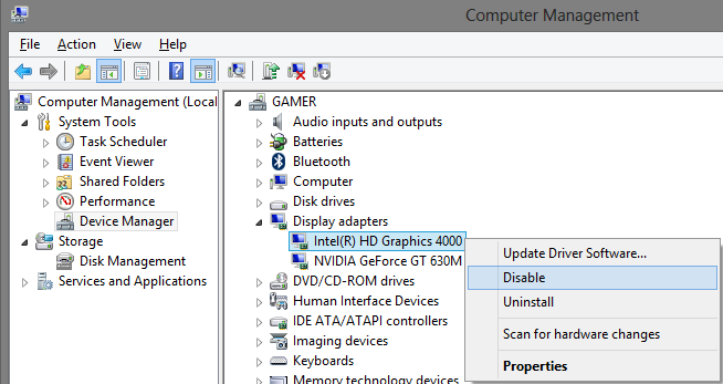 disable all direct 3d and directdraw applications