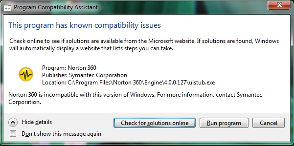 how to check application compatibility with windows 7