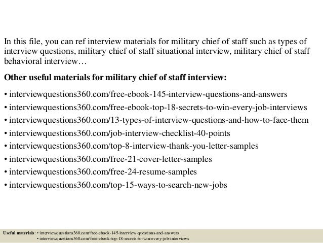 military questions on job application