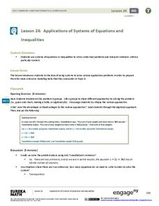 systems of equations application problems